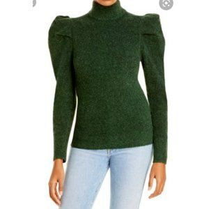 NWT Lini Mia Puff Sleeve Sweater Evergreen Large